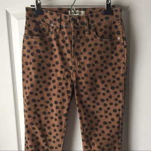 """Madewell 10"""" High Rise Skinny Jeans in Leopard Dot"""
